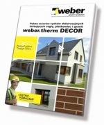 Ściany jednowarstwowe - Nowy system elewacyjny weber.therm DECOR