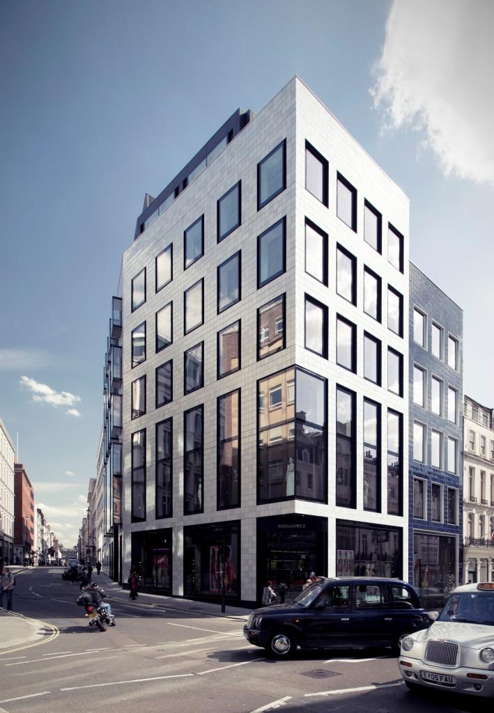 "Projekt ""24 Savile Row"", zdobywca nagrody WAN Facade Award 2015. Arch. Stephen Pey"