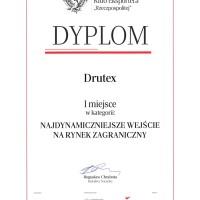 DRUTEX z nagrodą za najdynamiczniejsze wejście na rynek zagraniczny