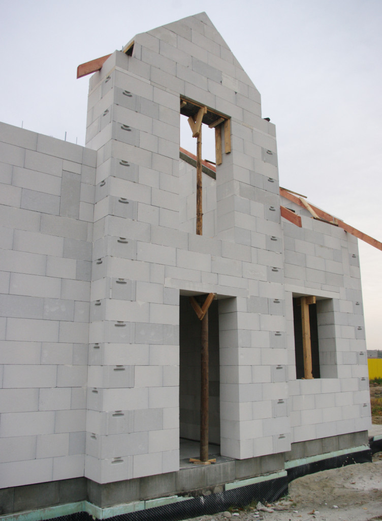 Ściana z betonu komórkowego Termalica. Fot. Bruk-Bet