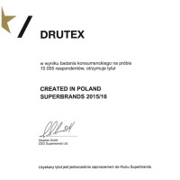 DRUTEX wśród najsilniejszych polskich marek