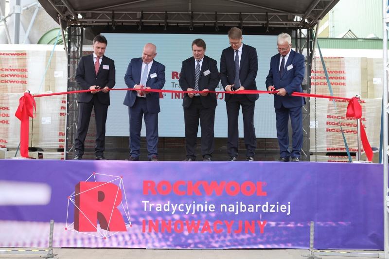 Otwarcie nowej linii produkcyjnej w fabryce wełny skalnej Rockwool w Cigacicach. Fot. ROCKWOOL
