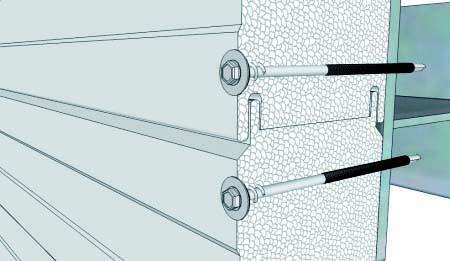 Rys. 8b. Mocowanie płyt ściennych łącznikami przelotowymi