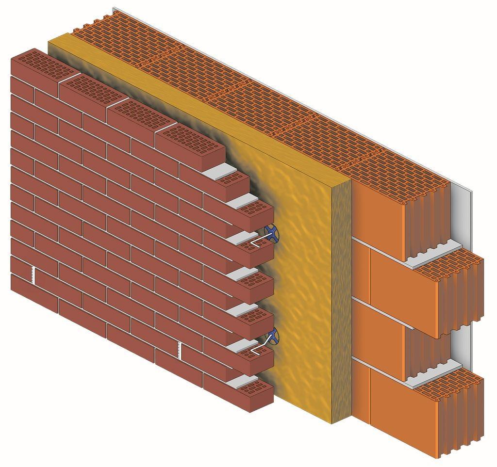Połączenie materiałów stosowanych do budowy trójwarstwowej ściany z elewacją z cegły klinkierowej zapewnia wysoką izolacyjność cieplną i akustyczną konstrukcji, a także jej wyjątkową odporność na uszkodzenia i zabrudzenia. Fot. CRH Klinkier