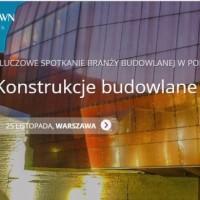 Konferencja dla inżynierów budownictwa KONSTRUKCJE BUDOWLANE 2016 – III edycja już 25 listopada