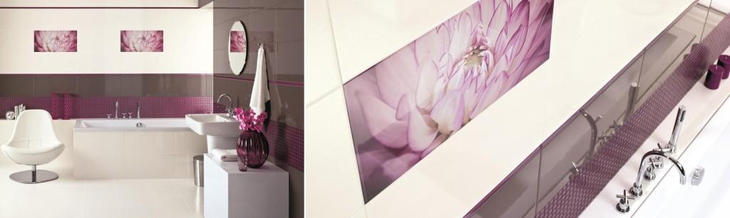 Dekoracyjne inserta, szklane listwy ozdobne i mozaiki. Kolekcja Sorenta / Sorro.Fot. Ceramika Paradyż