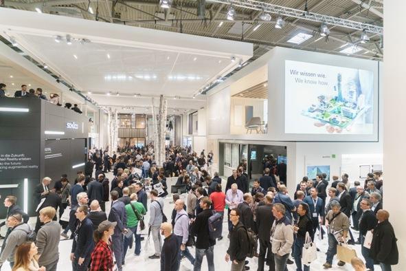 Imponujące stoisko firmy Schüco o powierzchni ponad 2400 m2 na targach BAU 2017. Fot. Schüco