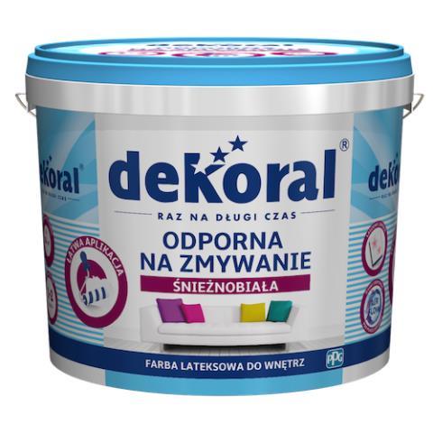 Odporna na zmywanie śnieżnobiała farba Dekoral. Fot. Dekoral