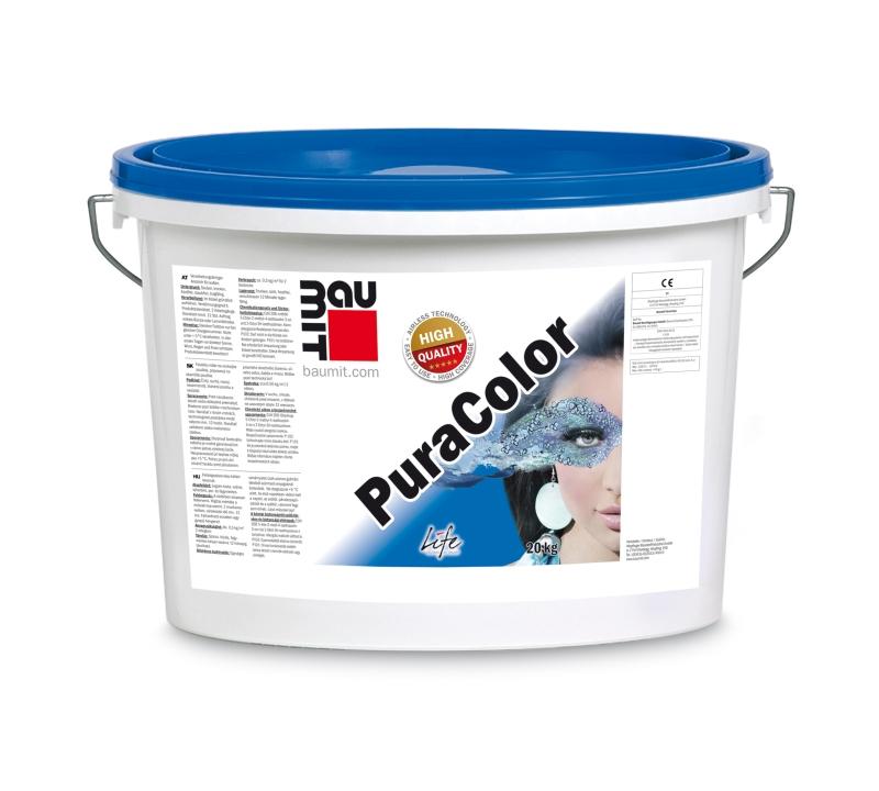 Dekoracyjna i ochronna farba elewacyjna Premium – Baumit PuraColor. Fot. Baumit