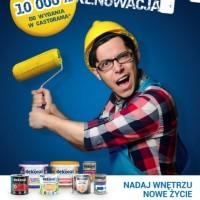 """Konkurs Dekoral """"Akcja Renowacja"""". Codziennie do wygrania 10000 zł. w kartach podarunkowych"""