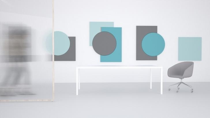 Ścienne panele akustyczne Fluffo Art - nowa kolekcja zaprojektowana przez Joannę Kabalę. Fot. Fluffo