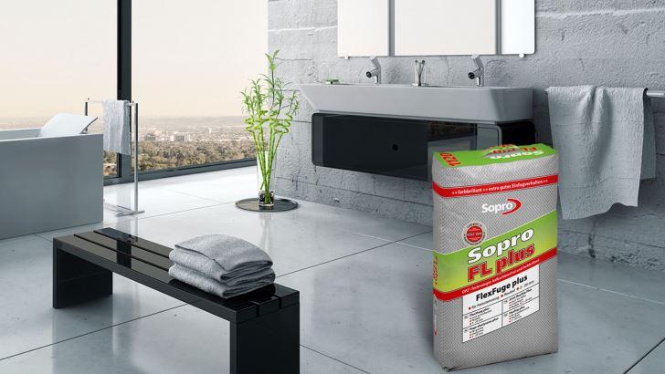 Cementowa, elastyczna i szybkowiążąca zaprawa fugowa Sopro FL plus do spoin 2-20 mm poszerzyła swoją paletę kolorów o modne barwy ziemi. Fot. Sopro