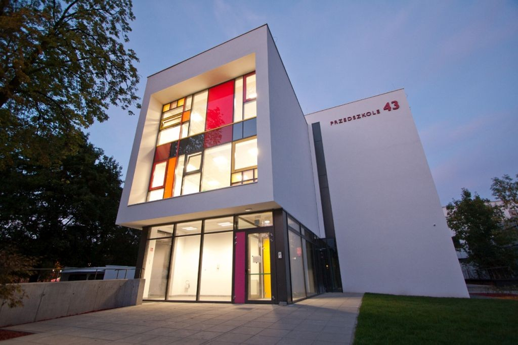 """Przedszkole nr 43 w Zabrzu – Fasada Roku 2018  w kategorii """"budynek po termomodernizacji"""". Fot. Baumit"""