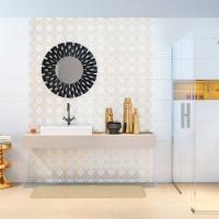 Łazienka jak marzenie – aranżacje z wykorzystaniem płytek o delikatnych wzorach